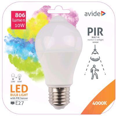 Avide Smart LED gömb (A60) 10W NW (4000K) PIR mozgásérzékelővel