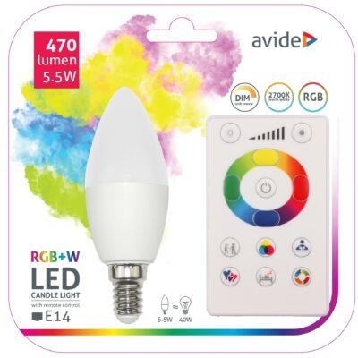 Avide Smart LED gyertya 5,5W RGB+W (2700K) IR távirányítóval