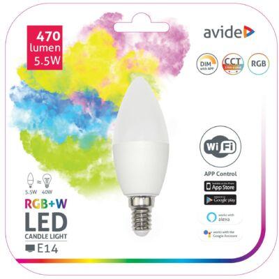 Avide Smart LED gyertya 5,5W RGB+W WIFI APP control