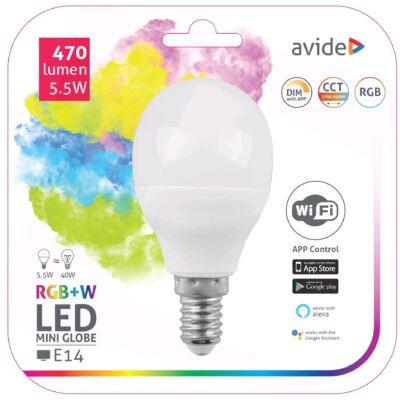 Avide Smart LED mini gömb 5,5W RGB+W WIFI APP control