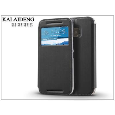 HTC One M9 flipes tok - Kalaideng Sun Series View Cover - black