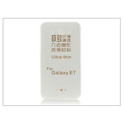 Samsung SM-E700 Galaxy E7 szilikon hátlap - Ultra Slim 0,3 mm - transparent