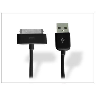 Apple iPhone 3G/3GS/4/4S/iPad/iPad2/iPad3 USB adat- és töltőkábel - 100 cm-es vezetékkel - fekete - utángyártott