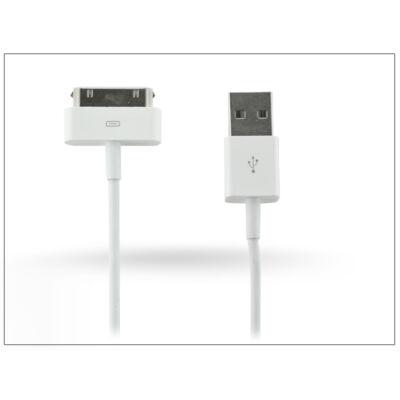 Apple iPhone 3G/3GS/4/4S/iPad/iPad2/iPad3 USB adat- és töltőkábel 100 cm-es vezetékkel - fehér