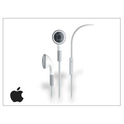 Apple iPhone 3G/3GS/4/4S/5/5S/5C/SE eredeti sztereó headset mikrofonnal - MA814L/A - fehér (csomagolás nélküli)