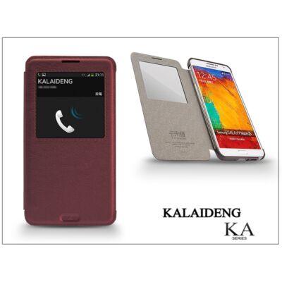 Samsung N9000 Galaxy Note 3 flipes tok - Kalaideng Ka View Series - dark red