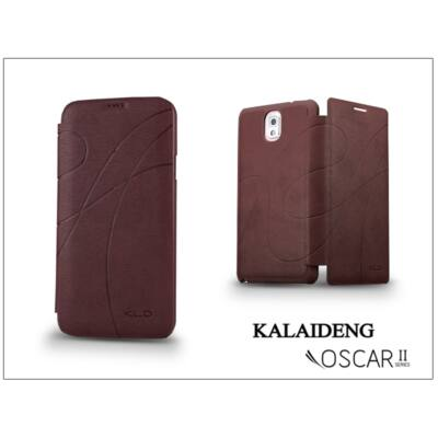 Samsung SM-G900 Galaxy S5 flipes tok - Kalaideng Oscar 2 Series - dark red