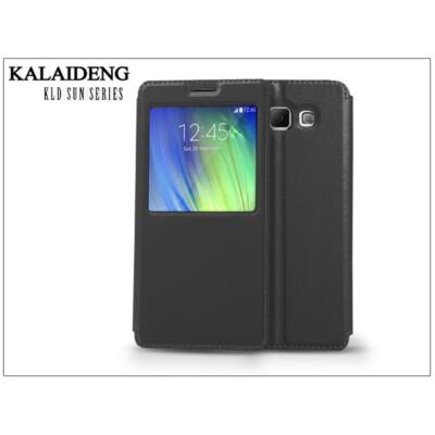 Samsung SM-A700F Galaxy A7 flipes tok - Kalaideng Sun Series View Cover - black