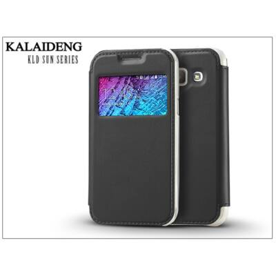 Samsung SM-J100 Galaxy J1 flipes tok - Kalaideng Sun Series View Cover - black