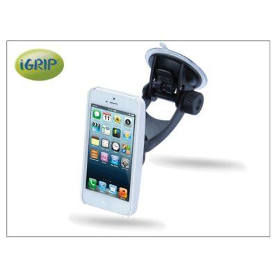 Apple iPhone 5/5s/SE autós telefontartó - iGrip Traveler Kit - white