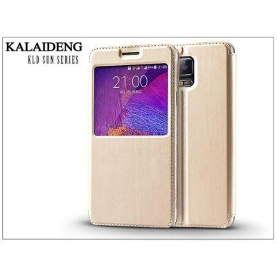 Samsung SM-N910 Galaxy Note 4 flipes tok - Kalaideng Sun Series View Cover - golden