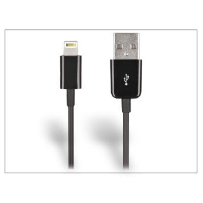 Apple iPhone 5/5S/5C/SE/iPad 4/iPad Mini Ligthning USB töltő- és adatkábel 100 cm-es vezetékkel - fekete - PRÉMIUM utángyártott