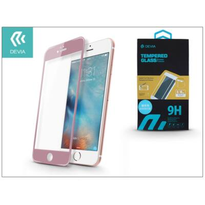 Apple iPhone 6/6S üveg képernyő- + Crystal hátlapvédő fólia - Devia Jade Full Screen Tempered Glass 0.18 mm - 1 + 1 db/csomag - rose gold