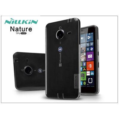 Microsoft Lumia 640 XL szilikon hátlap - Nillkin Nature - szürke