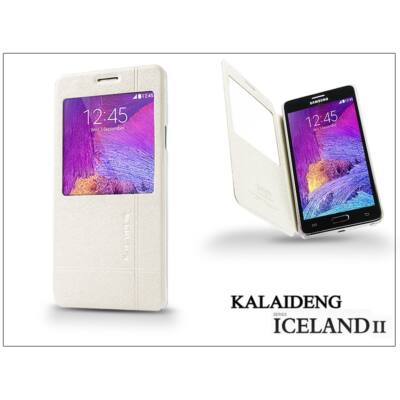 Samsung SM-N910 Galaxy Note 4 flipes tok - Kalaideng Iceland 2 Series View Cover - white
