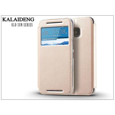 HTC One M9 flipes tok - Kalaideng Sun Series View Cover - golden