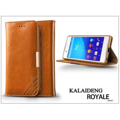 Sony Xperia Z3+/Z4 (E6553) flipes tok kártyatartóval - Kalaideng Royale II Series - brown