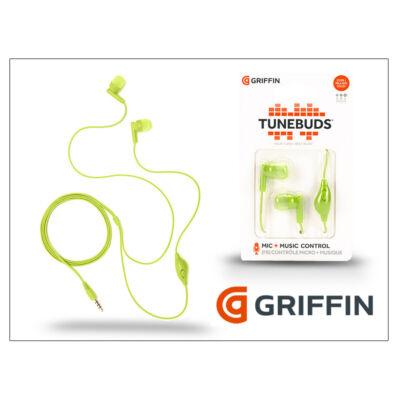 Griffin univerzális sztereó fülhallgató - 3,5 mm jack - Griffin Tunebuds - zöld