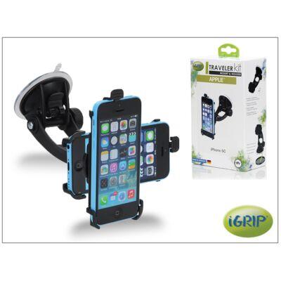 Apple iPhone 5C autós telefontartó - iGrip Traveler Kit - black