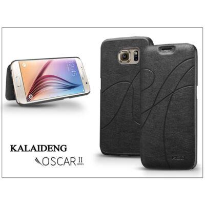 Samsung SM-G920 Galaxy S6 flipes tok - Kalaideng Oscar 2 Series - black