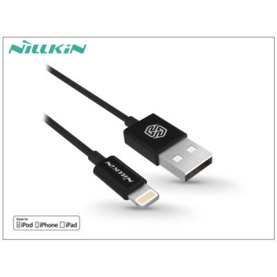 Apple iPhone 5/5S/5C/SE/iPad 4/iPad Mini USB töltő- és adatkábel - 1 m-es vezetékkel (Apple MFI engedélyes) - Nillkin Rapid Lightning - fekete