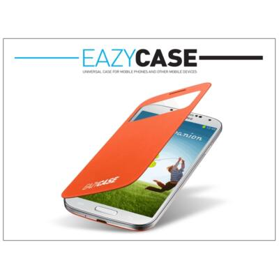 Samsung i9500 Galaxy S4 S View Cover flipes hátlap on/off funkcióval - EF-CI950BOEGWW utángyártott - orange