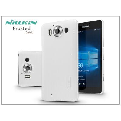 Microsoft Lumia 950 hátlap képernyővédő fóliával - Nillkin Frosted Shield - fehér