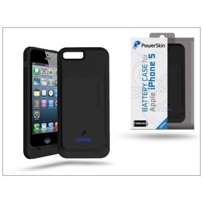 Apple iPhone 5/5S/SE vékony-hátlapos akkumulátor - 1500 mAh - fekete (Apple engedélyes)
