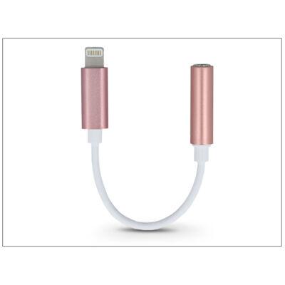 Lightning adapter 3,5 mm jack füllhallgatóhoz - pink/fehér