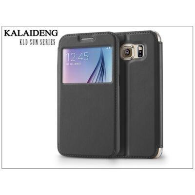 Samsung SM-G920 Galaxy S6 flipes tok - Kalaideng Sun Series View Cover - black