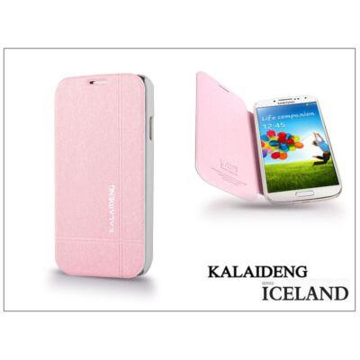 Samsung i9500 Galaxy S4 flipes tok - Kalaideng Iceland Series - pink