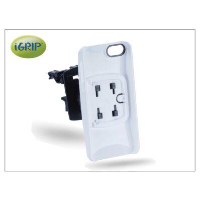 Apple iPhone 5/5s/SE szellőzőrácsba illeszthető autós telefontartó - iGrip Vent Kit - white