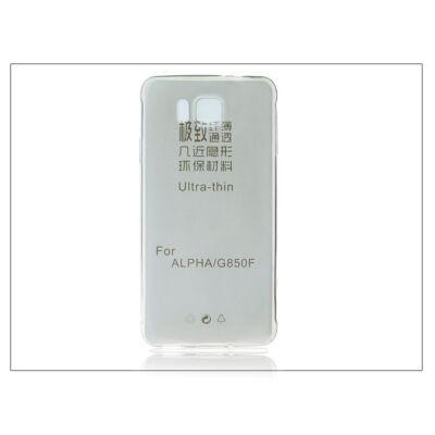 Samsung SM-G850 Galaxy Alpha szilikon hátlap - Ultra Slim 0,3 mm - fekete
