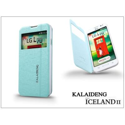 LG L70 D320N flipes tok - Kalaideng Iceland 2 Series View Cover - turquoise blue