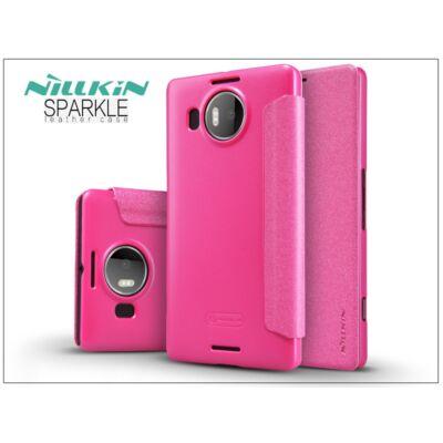 Microsoft Lumia 950 XL oldalra nyíló flipes tok - Nillkin Sparkle - pink