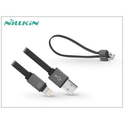 Apple iPhone 5/5S/5C/SE/iPad 4/iPad Mini USB töltő- és adatkábel 30 cm-es vezetékkel - Nillkin Mini Cable Lightning - fekete