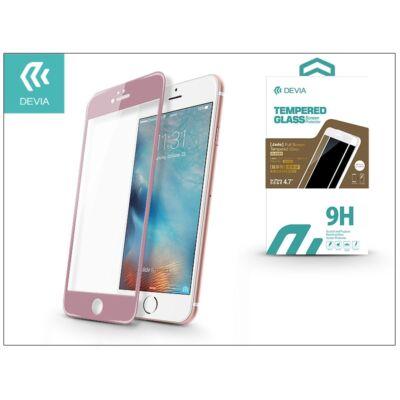 Apple iPhone 6/6S üveg képernyő- + Crystal hátlapvédő fólia - Devia Jade 2 Full Screen Tempered Glass Glossy - 1 + 1 db/csomag - rose gold