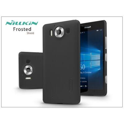 Microsoft Lumia 950 hátlap képernyővédő fóliával - Nillkin Frosted Shield - fekete