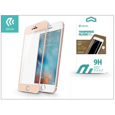 Apple iPhone 6/6S üveg képernyő- + Crystal hátlapvédő fólia - Devia Jade 2 Full Screen Tempered Glass Glossy - 1 + 1 db/csomag - cham. gold
