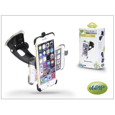 Apple iPhone 6 Plus autós telefontartó - iGrip Traveler Kit - black