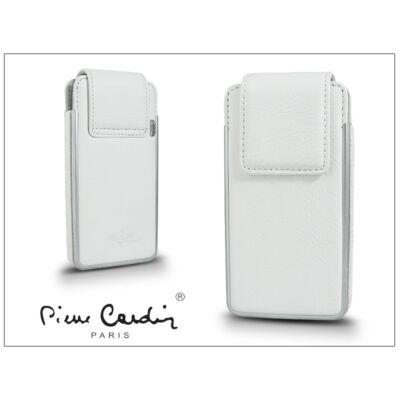 Pierre Cardin valódi bőrtok - Apple iPhone 4/4S - Type-5 - fehér