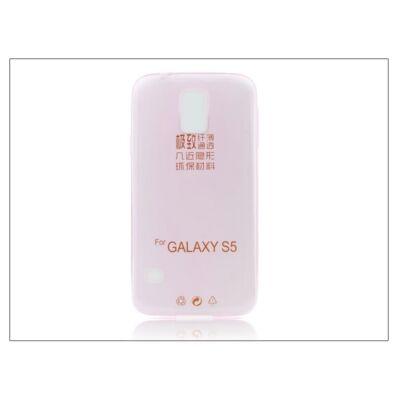 Samsung SM-G900 Galaxy S5 szilikon hátlap - Ultra Slim 0,3 mm - pink
