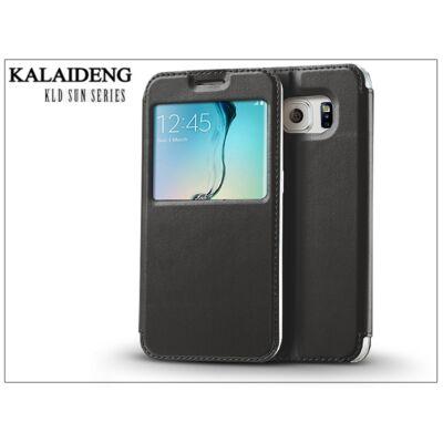 Samsung SM-G928 Galaxy S6 Edge+ flipes tok - Kalaideng Sun Series View Cover - black