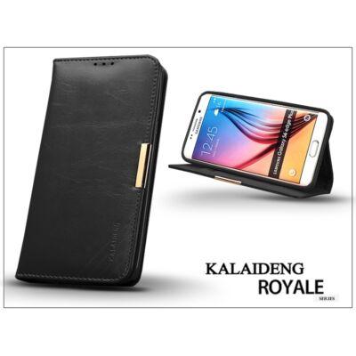 Samsung SM-G928 Galaxy S6 Edge+ flipes tok kártyatartóval - Kalaideng Royale II Series - black