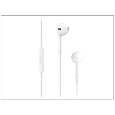 Apple iPhone 3G/3GS/4/4S/5/5S/5C/SE/6/6S eredeti távirányítós, sztereó headset mikrofonnal - MD827ZM/A - MNHF2ZM/A - fehér