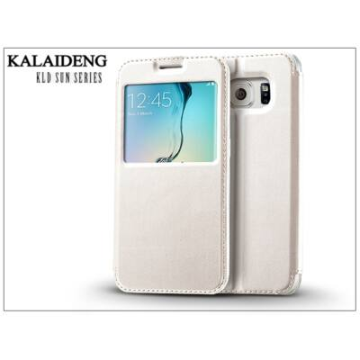 Samsung SM-G928 Galaxy S6 Edge+ flipes tok - Kalaideng Sun Series View Cover - white