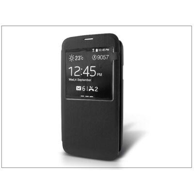 Samsung SM-G900 Galaxy S5 S-View flipes tok - fekete
