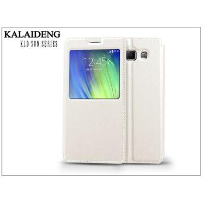 Samsung SM-A700F Galaxy A7 flipes tok - Kalaideng Sun Series View Cover - white