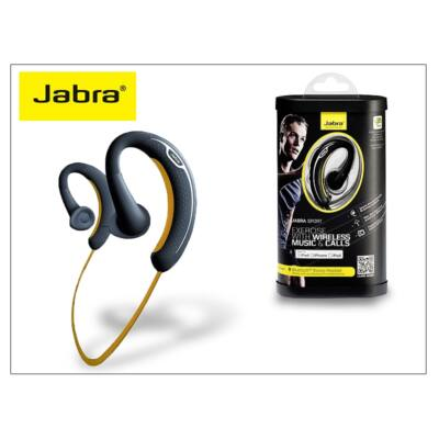 Jabra Sport Apple iPhone Bluetooth sztereó headset v3.0 - beépített FM rádióval - MultiPoint - black/yellow