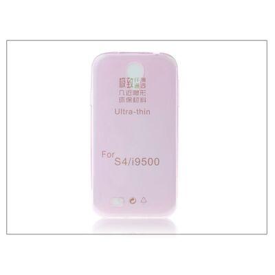 Samsung i9500 Galaxy S4 szilikon hátlap - Ultra Slim 0,3 mm - pink
